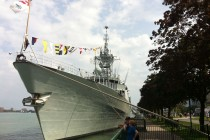 HMCS Ville de Quebec docks in Windsor