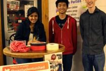 University students creating awareness