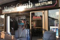 Van crashes into Magic Comb salon