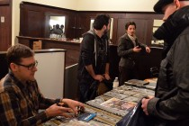 Comic book artists meet with fans
