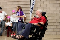 Wheelchair relay raises money for spinal cord injuries
