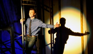Sean Sennett sings during his West Side Story performance at the Olde Walkerville Theatre on Sunday Oct. 19. (Photo by Vanessa Shields)