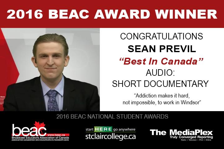 BEAC Award Winner - Sean Previl