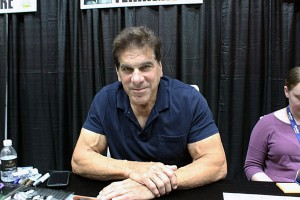 Lou Ferrigno, best known for his role as The Incredible Hulk, signs autographs at ComiCon.