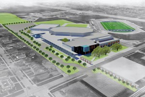 An artist rendition of the design concept for the $73 million renovations to the University of Windsor's St. Denis Centre (Photo courtesy of uwindsor.ca)