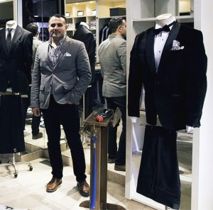 Lazaros Dimitriou owner of the The Suit Shop Co. Ltd. stands in the fitting area of his store on Erie St. E. in Windsor on Thursday, January 26,2017. Dimitriou who has worked for fashion houses in Europe and with Harry Rosen in Canada will host the grand opening of his custom tailor shop on Saturday (Photo by David Lafreniere)