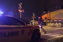 Pedestrian hit by train