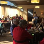Residents of the Lifetime Retirement Home had a chance to celebrate Valentine's Day. Photo by/Vanni Zhang