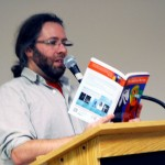 Daniel Lockhart recites his poem at public library, riverside branch on Wednesday 15 Feburary, 2017. ( Photo by: MD Nuruzzaman)