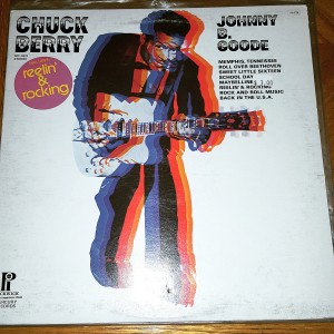 Chuck Berry record on display (Photo by Joe Gibel)
