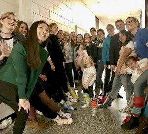 St. Clair College students and staff found a colourful way to celebrate Down Syndrome Day. Photo by Joy Chen.