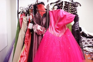 Dresses that have been donated to Say yes to the Prom Dress at New Beginnings (Photo by Bela Antonio)