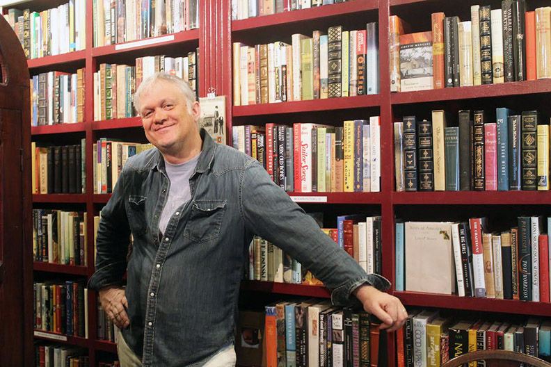 Roger Wurdemann at Juniper books in Windsor on March 3.