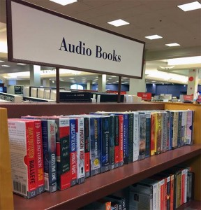 A photograph of audiobooks in Chapters at Devonshire Mall. (Photo by Ryan Jones)