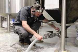 Michael Beaudoin brewing a batch of beer at Walkerville Brewery on Monday April 17, 2017. (Photo by Kevin Blondin)