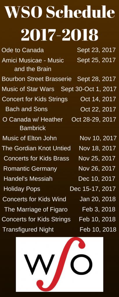 WSO 2017-2018 schedule