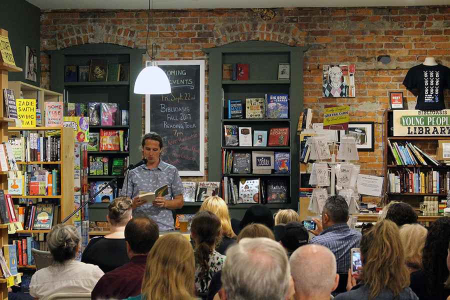 David Huebert reads an excerpt from Peninsula Sinking