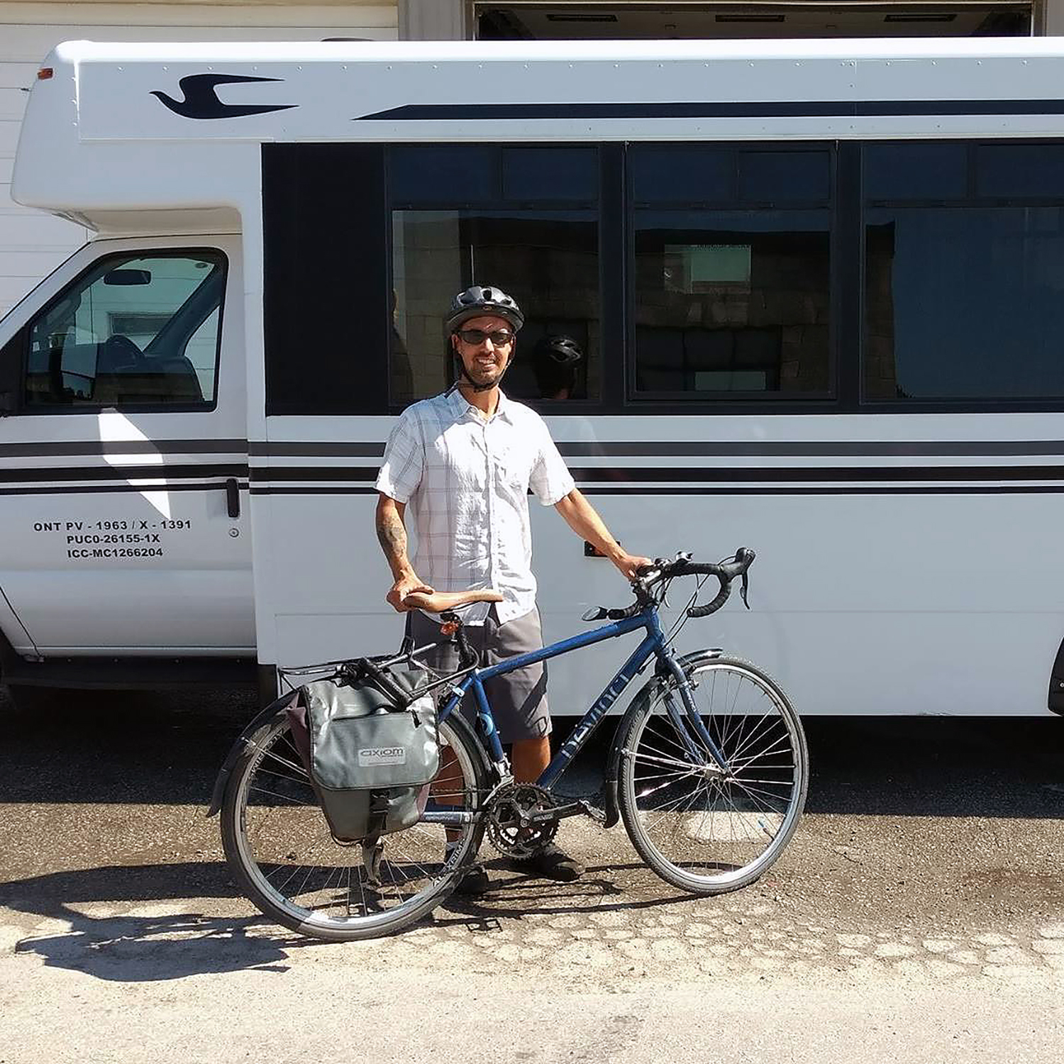 Justin Lafontaine is a recognized cycle tourism advocate. (Photo used with permission)