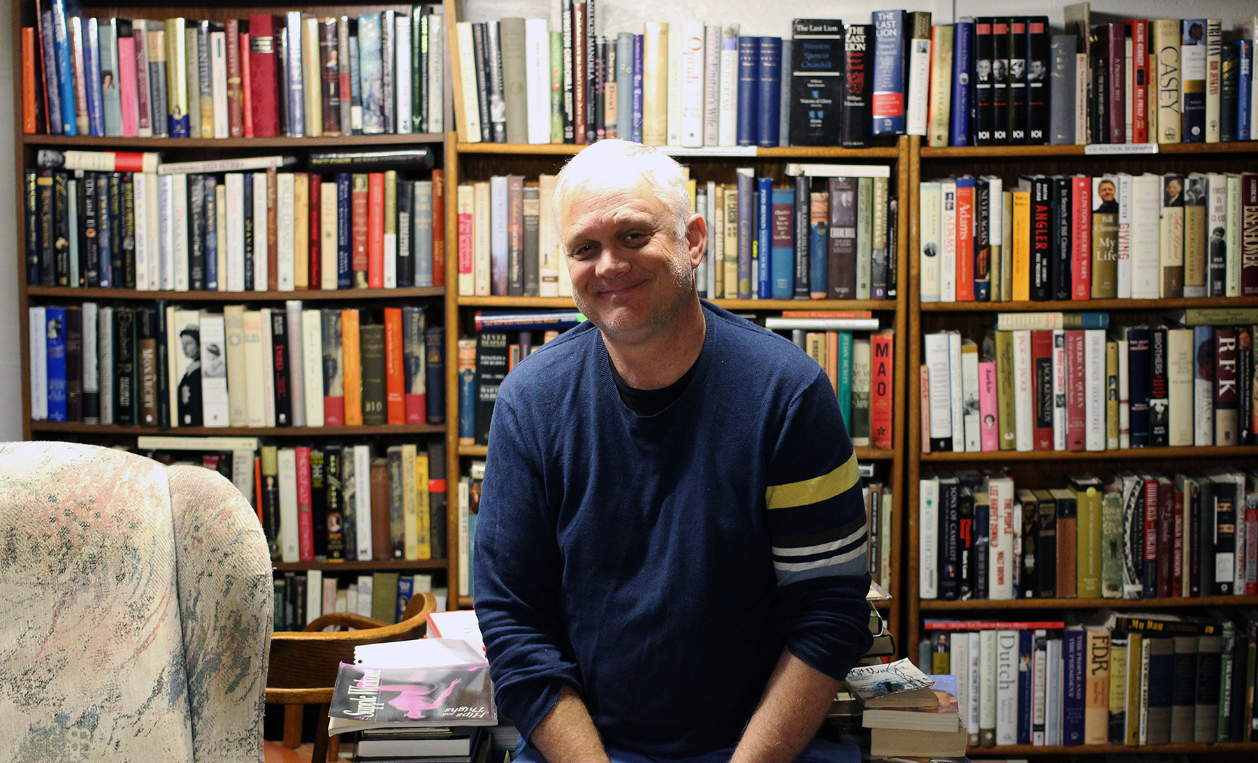 Roger Wurdemann at Juniper Used and Rare Books on Oct. 3, 2017