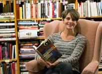 Tina Lyons-Hagen at Biblioasis in Windsor on Oct. 11, 2017 (Photo by: Julianna Bonnett)
