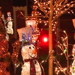 A festive display of snowmen was among the hundreds of thousands of lights shining bright at Jackson Park's Bright Lights Windsor festival. Photo by Todd Shearon.