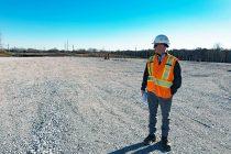 Land preparation for the Gordie Howe International Bridge