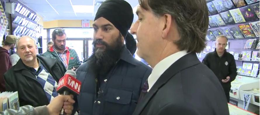 NDP leader Jagmeet Singh drops in to Dr. Disc in Windsor