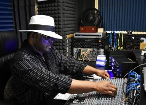 David Gerald working in his studio in Westland, Mich. (Photo by Alyssa Leonard)