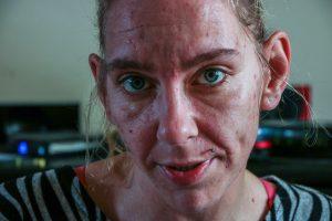 Recovering drug addict Stephanie Bertrand