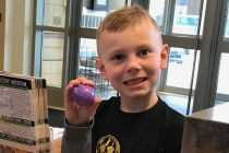 Easter egg hunting at the Chimczuk Museum